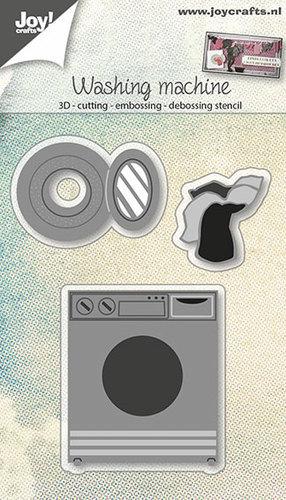 Joy! crafts --Snij-embos-debosstencil   Wasmachine