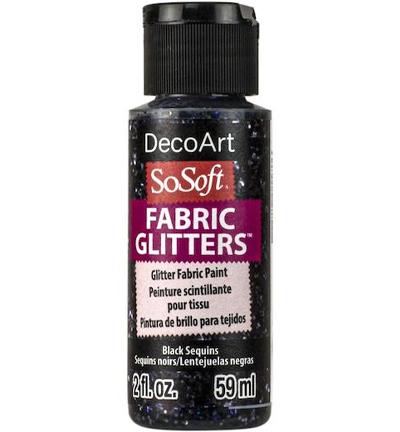 Glitters Paint, Black Sequins
