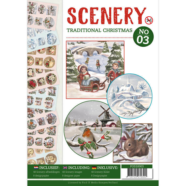 Push Out boek Scenery 3 -Traditional Christmas