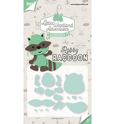 Cutting Snijstencil - LWA - Dendennis - Robby Raccoon