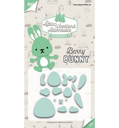 Snij-embosstencils - LWA - Benny Bunny (Konijn)