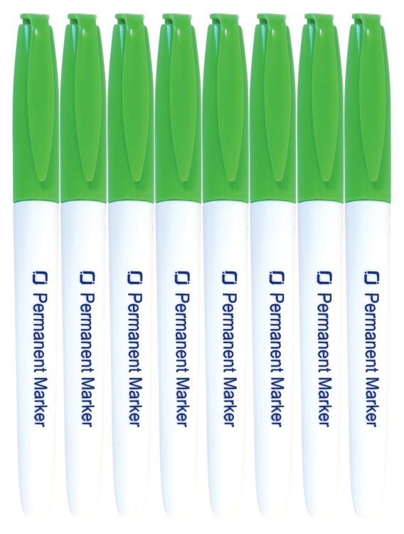 Permanent Markers Green 8x