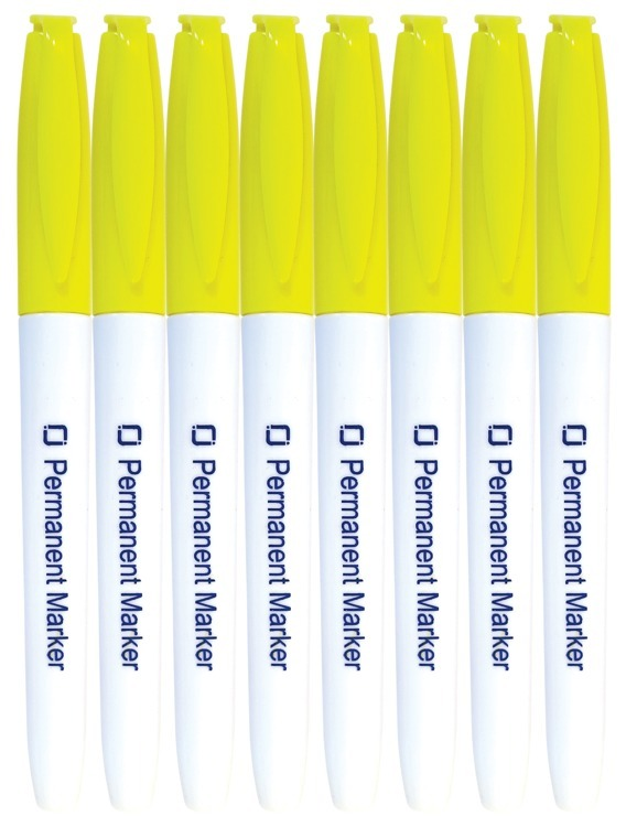 Permanent Markers Yellow 8x