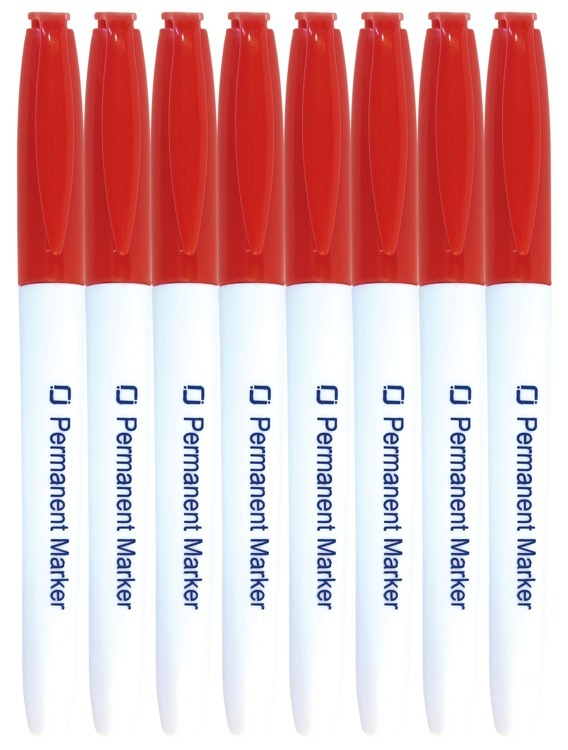 Permanent Markers Red 8x