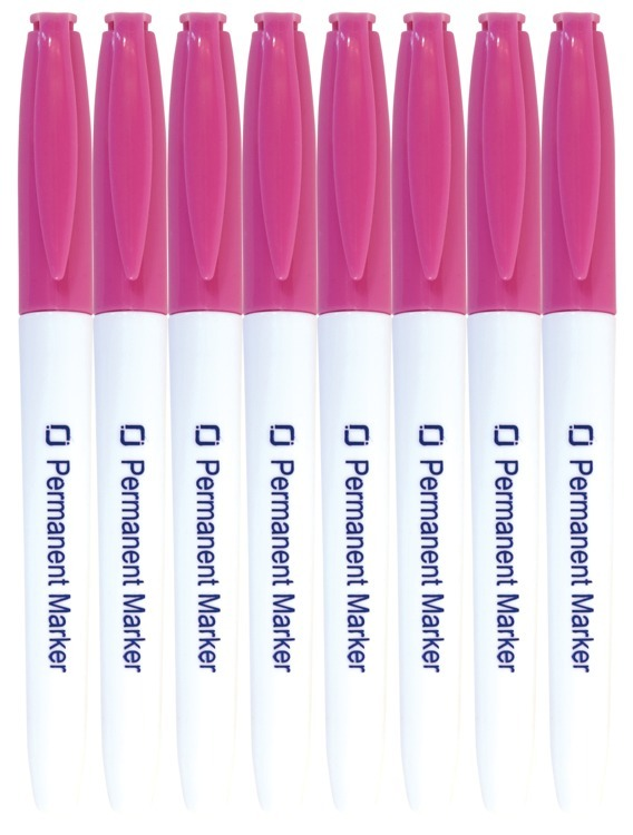 Permanent Markers Pink 8x