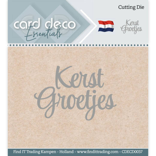 Card Deco Essentials - Cutting Dies - Kerst Groetjes