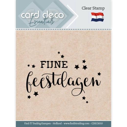 Card Deco Essentials - Clear Stamps - Fijne Feestdagen