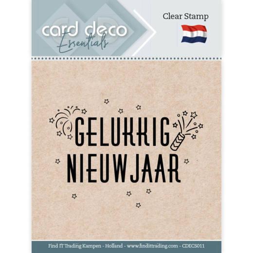 Card Deco Essentials - Clear Stamps - Gelukkig Nieuwjaar