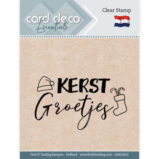 Card Deco Essentials - Clear Stamps - Kerst Groetjes