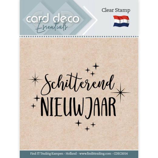 Card Deco Essentials - Clear Stamps - Schitterend Nieuwjaar
