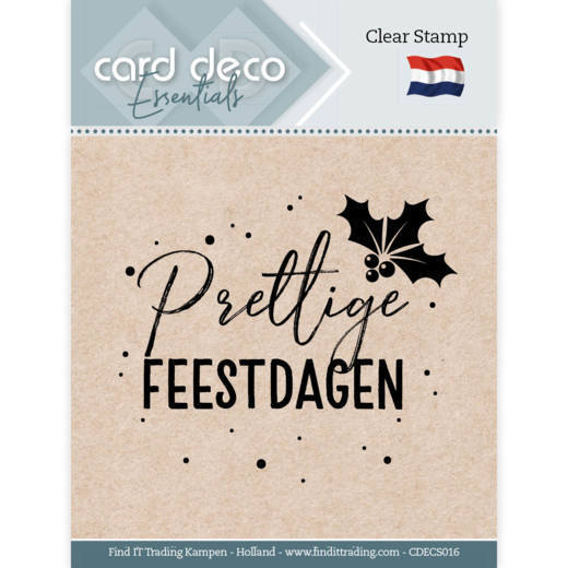 Card Deco Essentials - Clear Stamps - Prettige Feestdagen