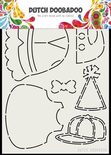 Dutch Doobadoo Card Art Berenjacht Beren kleding AA 470.713.798 (05-20)