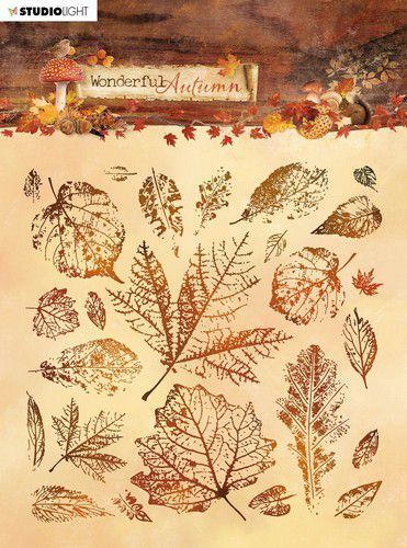 Studio Light Stamp 15x15 cm Wonderful Autumn nr. 483 STAMPWA483 (07-20)
