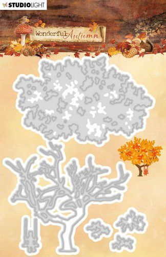 Studio Light Embossing Die 49x132mm Wonderful Autumn nr.310 STENCILWA310 (07-20)