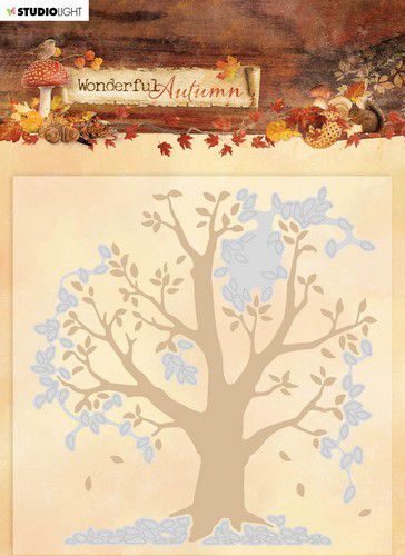 Studio Light Embossing Folder With Die Cut Wonderful Autumn nr.05 EMBWA05 (07-20)