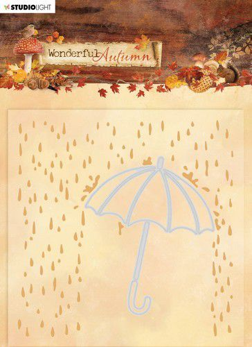 Studio Light Embossing Folder With Die Cut Wonderful Autumn nr.06 EMBWA06 (07-20)