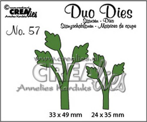 Crealies Duo Dies no.57  blaadjes  11 CLDD57 33 x 49 mm 24 x 35 mm  (07-20)