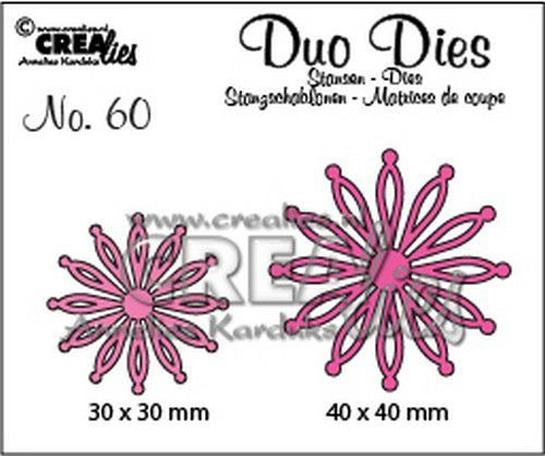 Crealies Duo Dies no. 60 open Bloemen 25 CLDD60 30 mm - 40 mm (07-20)