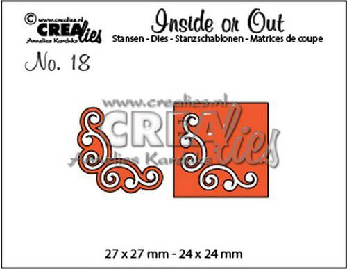 Crealies Inside or Out hoekjes L CLIO18 27 x 27 mm - 24 x 24 mm (07-20)