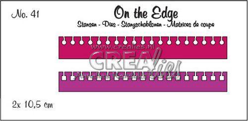 Crealies On the Edge no. 41  2x notitierand (rond en vierkant) CLOTE41 2x 10,5 cm (07-20)