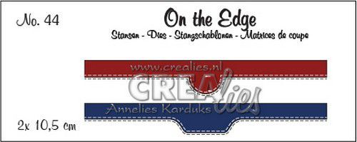 Crealies On the Edge no. 44 2x pocket openingen CLOTE44 2x 10,5 cm (07-20)