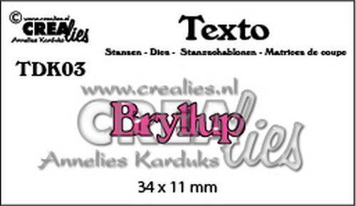 Crealies Texto  Bryllup (DK) TDK03 34 x 11 mm (07-20)
