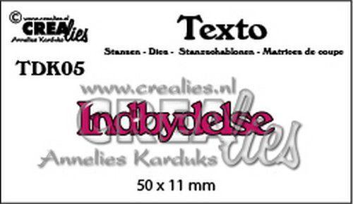 Crealies Texto  Indbydelse (DK) TDK05 50 x 11 mm (07-20)
