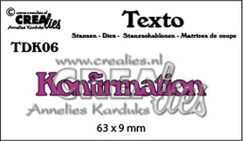 Crealies Texto  Konfirmation (DK) TDK06 63 x 9 mm (07-20)