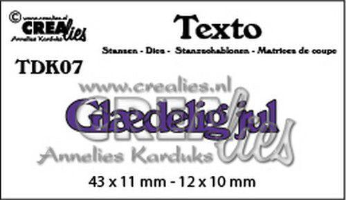 Crealies Texto  Glædelig jul (DK) TDK07 43 x 11 mm - 12 x 10 mm (07-20)