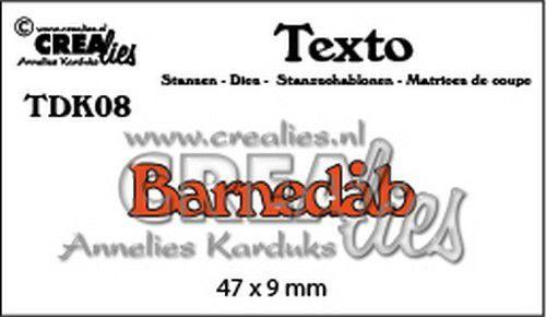 Crealies Texto  Barnedåb (DK) TDK08 47 x 9 mm (07-20)