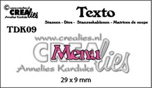 Crealies Texto  Menu (DK) TDK09 29 x 9 mm (07-20)