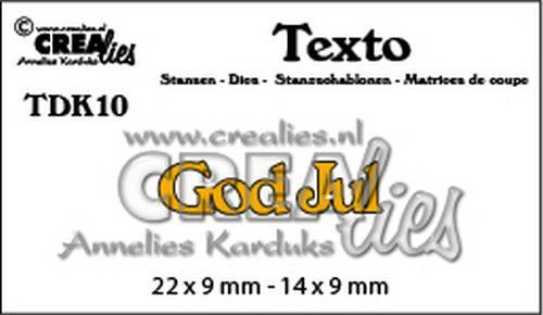 Crealies Texto  God Jul (DK) TDK10 22 x 9 mm - 14 x 9 mm (07-20)