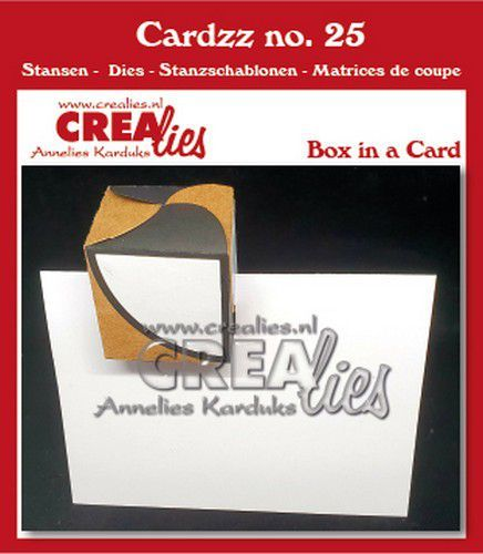 Crealies Cardzz Doosje in een kaart CLCZ25 fits in most cardsizes (07-20)