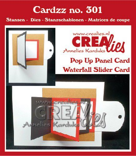 Crealies Cardzz Waterval schuifkaart + Omklap schuifkaart CLCZ301 fits on most cardsizes (07-20)