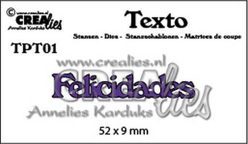 Crealies Texto  Felicidades (PT) TPT01 52 x 9 mm (07-20)