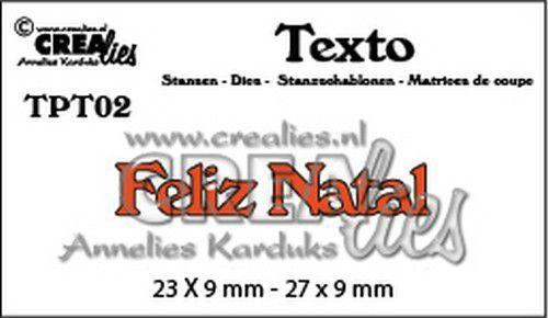 Crealies Texto  Feliz Natal (PT) TPT02 23 X 9 mm - 27 x 9 mm (07-20)