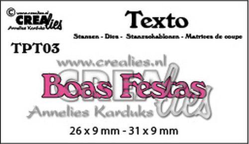 Crealies Texto  Boas Festas (PT) TPT03 26 x 9 mm - 31 x 9 mm (07-20)