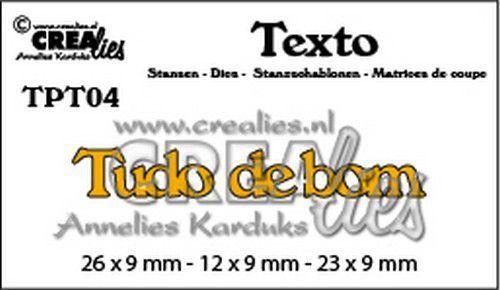 Crealies Texto  Tudo de bom (PT) TPT04 26 x 9 mm - 12 x 9 mm - 23 x 9 mm (07-20)