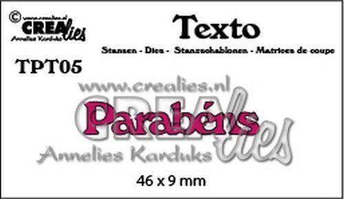 Crealies Texto  Parabéns (PT) TPT05 46 x 9 mm (07-20)