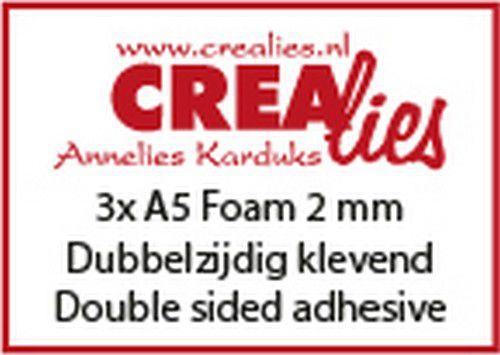 Crealies Basics 3x Foam A5 2 mm CLBSF2mm 3x A5 (07-20)