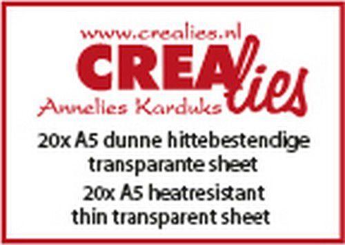 Crealies Basics 20x A5 hittebestendig dunne transparant sheet CLBSTR01 20x A5 (07-20)