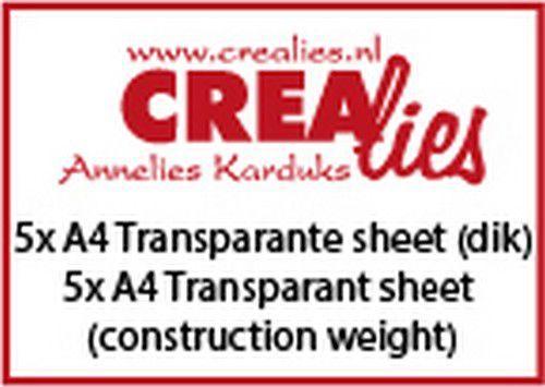 Crealies Basics 5x A4 dikke transparante sheet CLBSTR02 5x A4 (07-20)