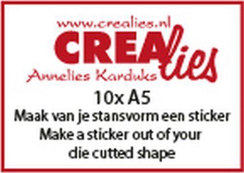 Crealies Basics 10 x A5 Maak van je stansvorm een sticker CLBSSticker 10x A5 (07-20)
