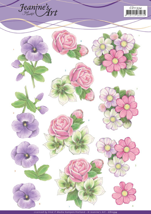 3D cutting sheet - Jeanine's Art - Summer Flowers