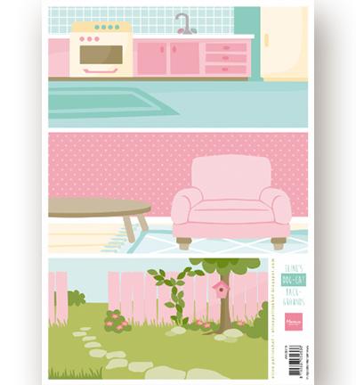 Decoupage - Eline's Dog-Cat background