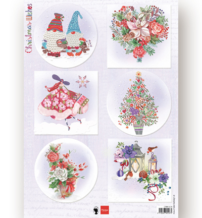 Decoupage - Christmas Wishes gnomes
