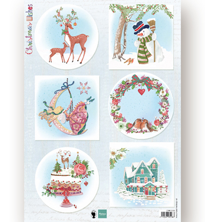 Decoupage - Christmas Wishes deer