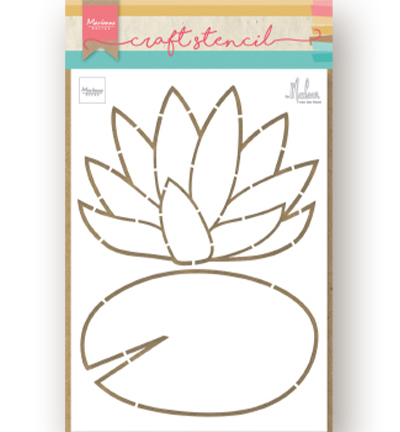 Craft Stencil - Waterlily by Marleen