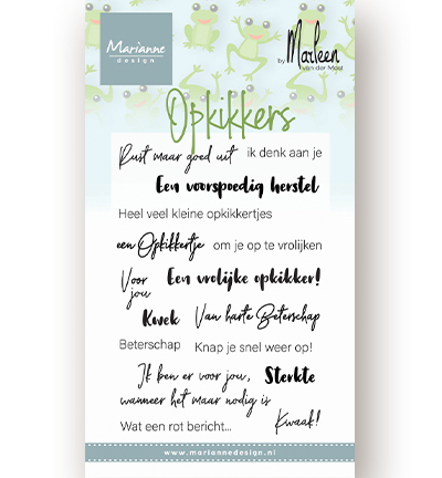 Clear Stamps - Opkikkers by Marleen