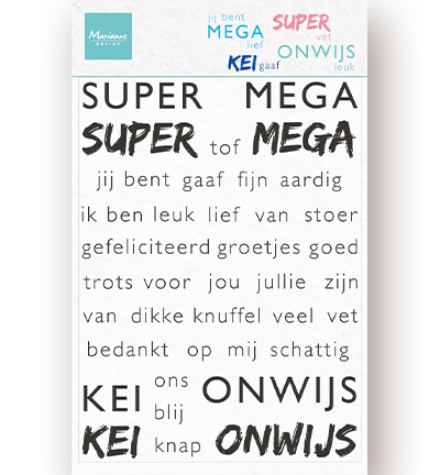 Clear Stamps - SUPER-MEGA-KEI-ONWIJS